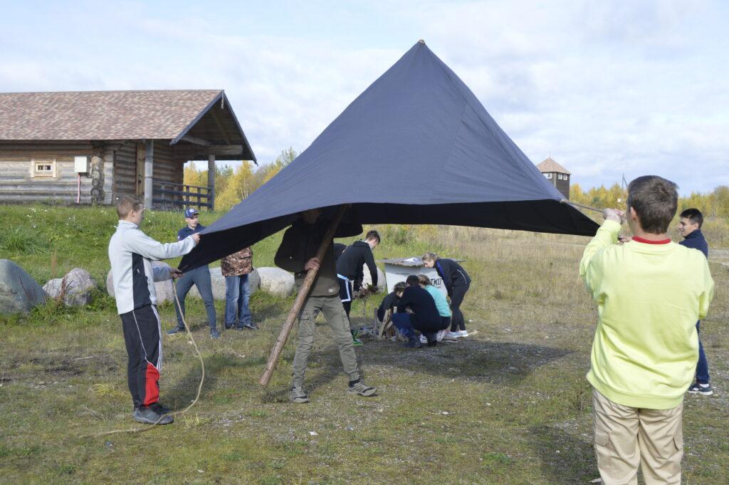 Ставим шатер на время